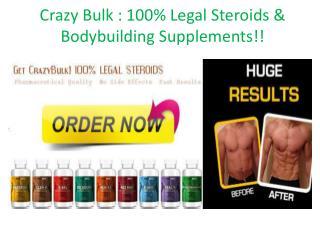 Crazy Bulk Reviews: Best Muscle Building Supplements !!