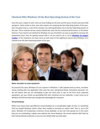 Checkout Why Windows 10 the Best Operating System of the Year