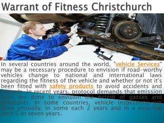 Warrant of Fitness Christchurch