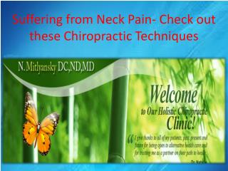 Suffering from Neck Pain- Check out these Chiropractic Techniques