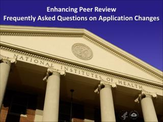 Enhancing Peer Review Frequently Asked Questions on Application Changes