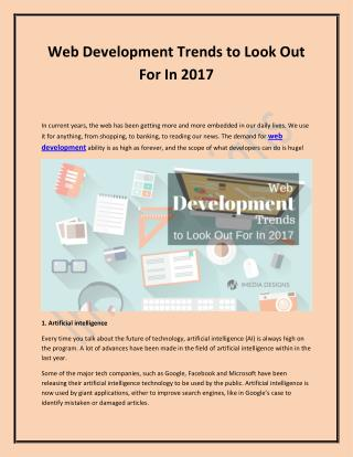 Web Development Trends In 2017 - iMedia Designs