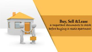 6 Important documents to check before buying a resale apartment