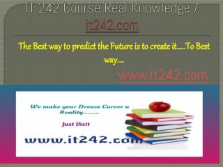 IT 242 Course Real Knowledge / it 242 dotcom