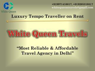 Luxury Tempo Traveller hire delhi, Tempo Traveller on Rent