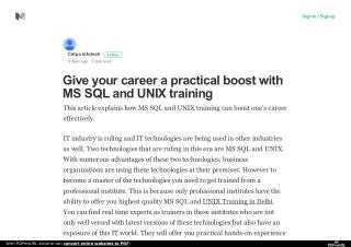 Give your career a practical boost with MS SQL and UNIX training