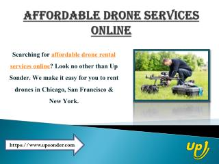 Affordable Drone Services Online