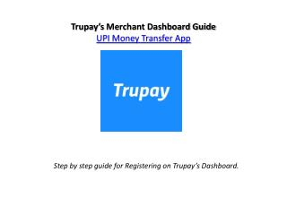 UPI App Registration Process on Trupay
