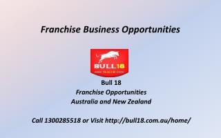 Bull18 Franchise Business Opportunities