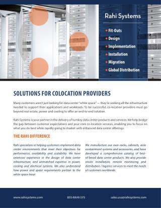 Solution for Colocation Providers
