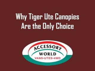 Why Tiger Ute Canopies Are the Only Choice