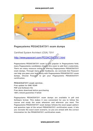 Pegasystems PEGACSA72V1 exam dumps