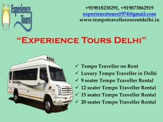Rent online Tempo Traveller in Delhi