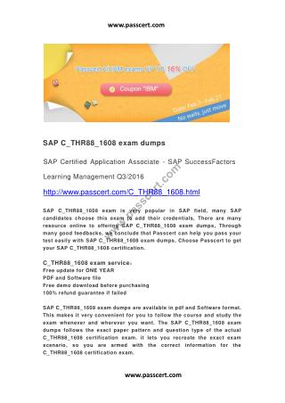 SAP C_THR88_1608 exam dumps