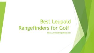 Best leupold golf rangefinders