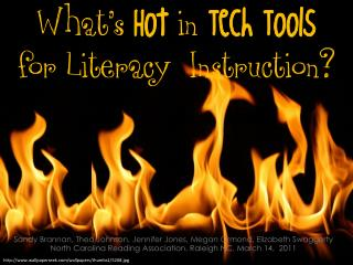 Hot Tech Tools in Literacy Instruction