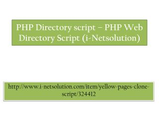PHP Directory script – PHP Web Directory Script (i-Netsolution)