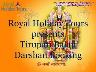 Tirupati balaji darshan booking, tirupati tour pacakge from delhi