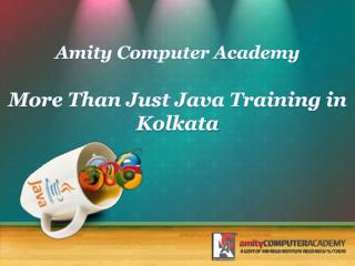 More Than Just Java Training in Kolkata