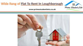 Wide Range of  Flat to rent in loughborough