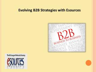 Evolving B2B Strategies with Esources