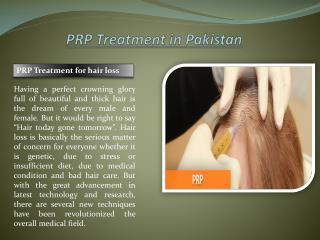 PRP Treatment in Pakistan