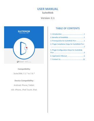 Customizable Mobile Application For SuiteCRM - SuiteMob(v2.1)