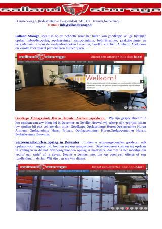 Opslagruimte Huren Apeldoorn-Opslagruimte Huren Prijzen-Bedrijfsruimte Deventer