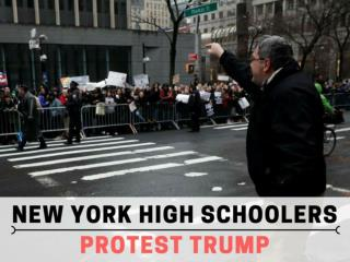 New York high schoolers protest Trump