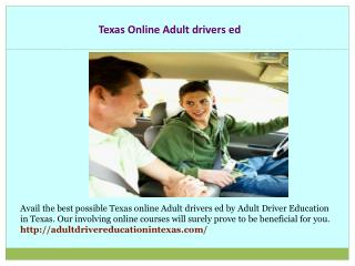 Texas Adult Driver Education