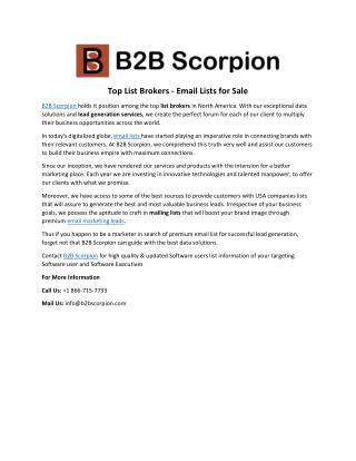 B2B Scorpion - B2B Email Lists Brokers