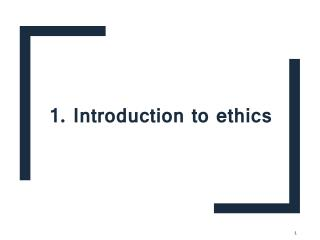 introduction to health Ethics