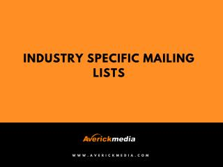 Industry Executives Email Lists | Indsutry Wise Mailing Lists