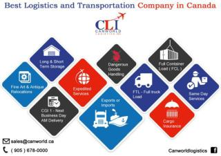 Best Logistics and Transportation Company in Canada