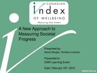 A New Approach to Measuring Societal Progress