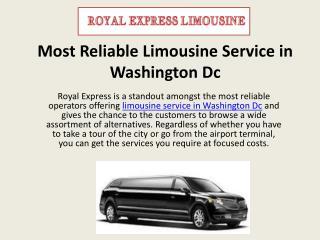 Most Reliable Limousine Service in Washington Dc