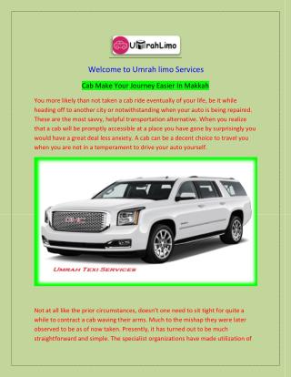 Umrah Limo Offer the Best Taxi Services
