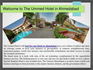 The Ummed Hotel Ahmedabad