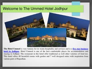 The Ummed Hotel Jodhpur