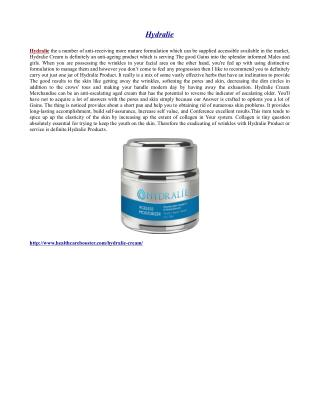 http://www.healthcarebooster.com/hydralie-cream/