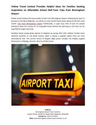 birmingham airport taxi