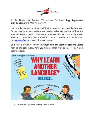 Most Popular Japanese Language School