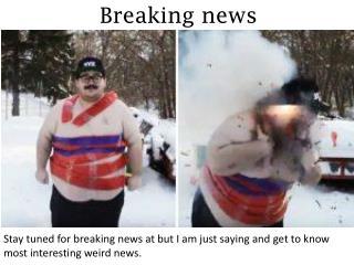 Breaking news - butiamjustsaying.com