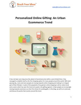 Personalized Online Gifting: An Urban Ecommerce Trend