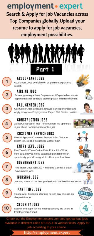 Searching for Job in USA | Employment Expert