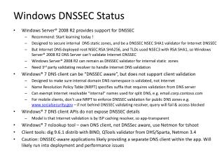 Windows DNSSEC Status
