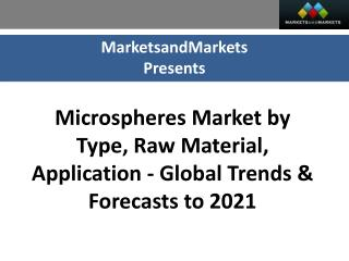 Microspheres Market worth 7.37 Billion USD by 2021