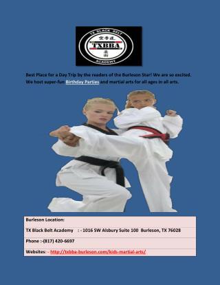 Burleson martial arts
