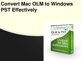 OLM to PST Converter Pro Software