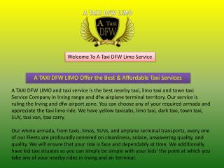 Taxi Cab Service TX